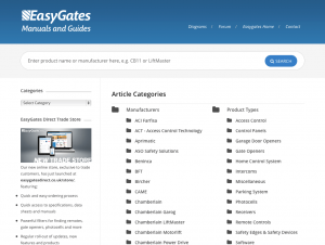 EasyGates Manuals