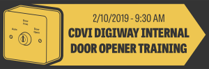 CDVi DIGIWAY Internal Door Opener Training