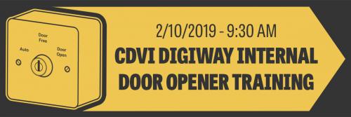 CDVi DIGIWAY Internal Door Opener Training