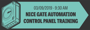 Nice Gate Automation Control Panel Training – September