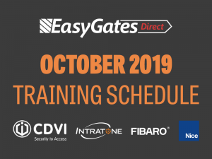 October Training Schedule