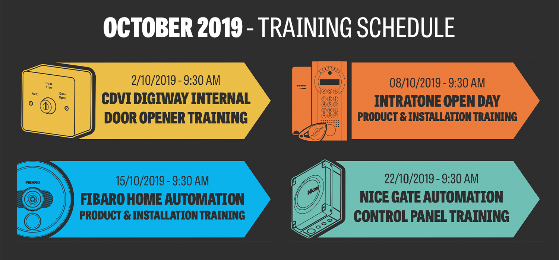 October Training Schedule