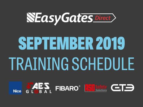 September Training Schedule