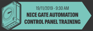 Nice Gate Automation Control Panel Training – November