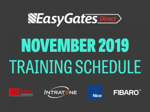 November Training Schedule