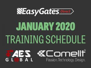 January Training Schedule