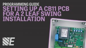 Programming a CB11 PCB for a Double Gate Installation