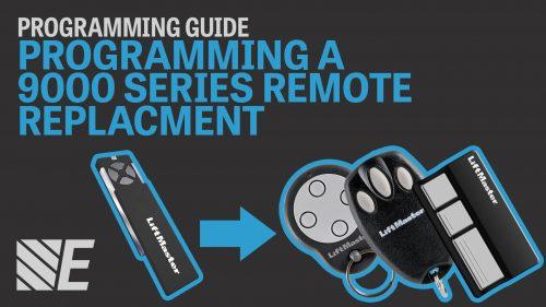 LiftMaster 9000 Series Remote Programming