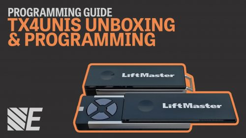 Unboxing and programming a LiftMaster TX4UNIS