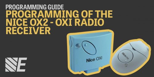 Programming Guide – Programming of the Nice OX2 and OXI Radio Receivers