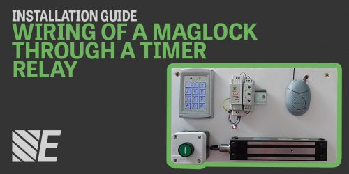 Installation Guide – Wiring of a maglock through a timer relay.