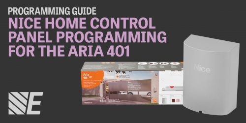 Programming guide for the Nice Home Control panel for the Aria 401