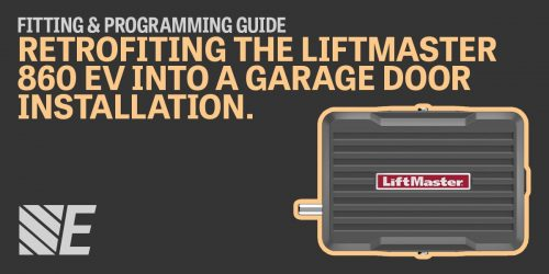 Retrofitting guide for the LiftMaster 860 EV on existing garage door installations