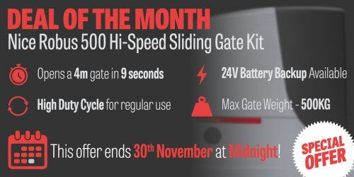 Deal Of the Month: November Discount on the Nice ROBUS 500 Hi-Speed Gate Kit