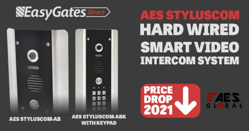 Price Drop 2021! AES Styluscom Hardwired Smart Video Intercom System