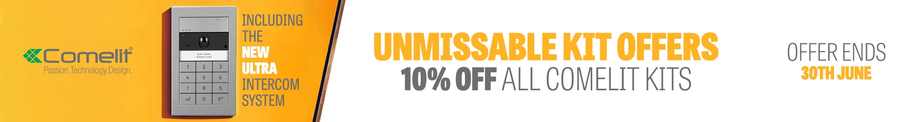 June Offer of the Month: 10% Off All Comelit Kits