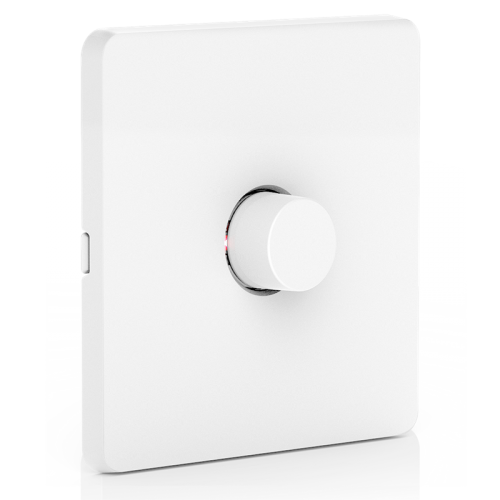 AOne Zigbee 220-240V 1 x Battery Operated Wireless Rotary Dimmer on 1 Gang Plate