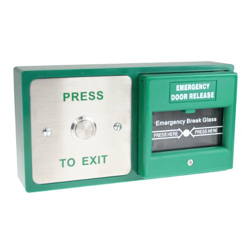 Cdvi Dbb 21 02 Stainless Steel Button Amp Break Glass Door Release