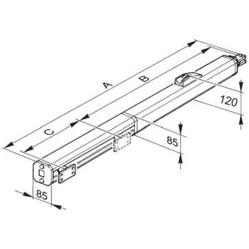 Faac 400 Sbs Double Kit Double Ram Kit 230v 5 0m Max
