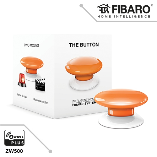 Fibaro The Button - Orange Z-Wave Scene Controller