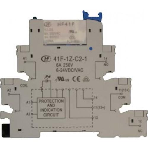 41f 1z C2 24 24v Din Rail Relay Module