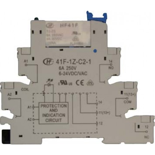 240V Slim DIN Rail Relay Module 6 Amp