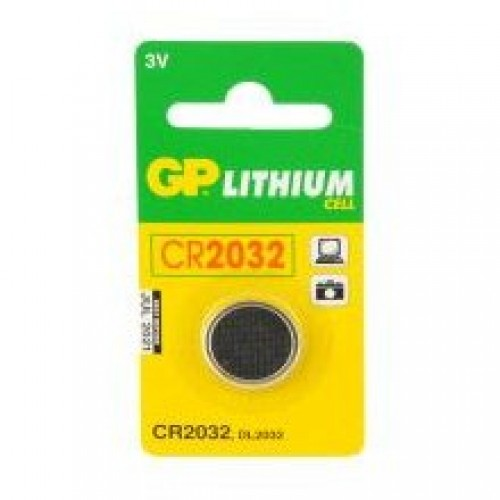 CR2032 GP Lithium 3V Coin Cell Battery for Remote Controls