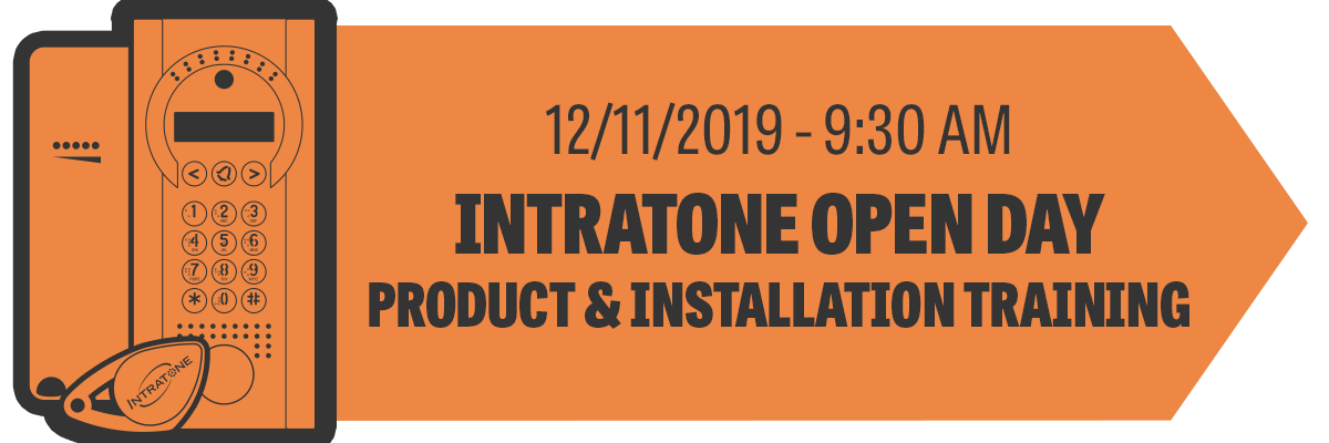 Intratone Open Day Product & Installation Training