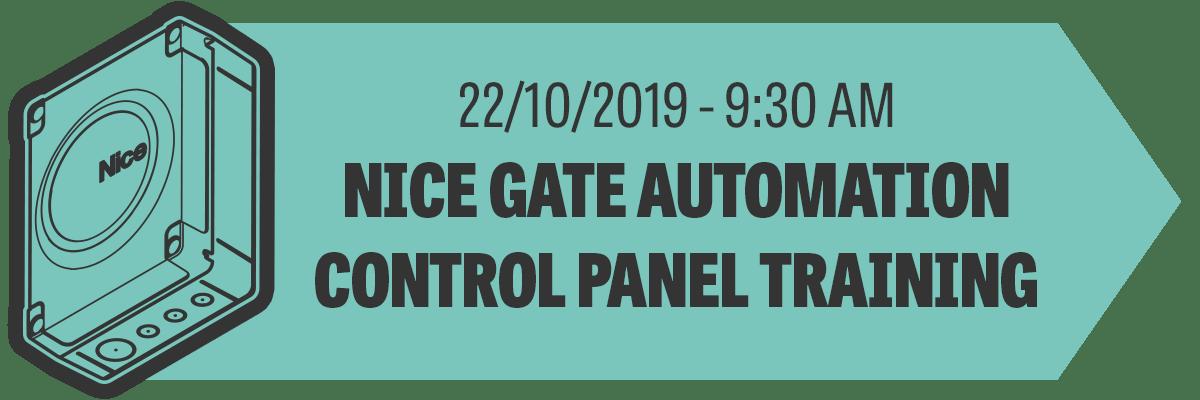 Nice Gate Automation Control Panel Training